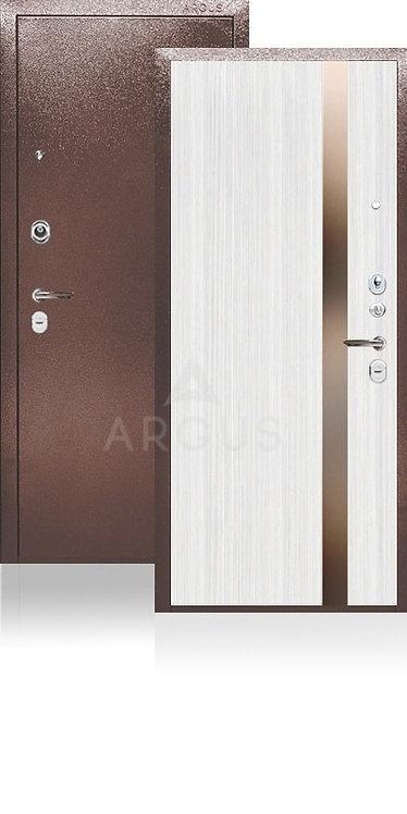 Дверь входная   сейф-дверь ARGUS ДА-25 Соло Белый Ясен / Иден