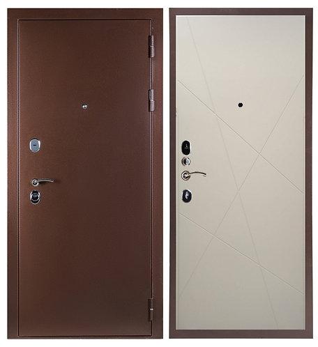 Дверь Sidoorov 80 3k медь Паутинка/Капучино софт