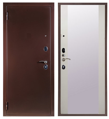 Дверь Sidoorov S 80 медь Плаза/Белый снег софт