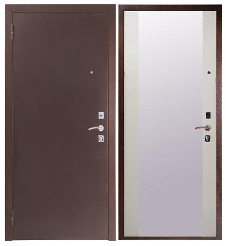 Дверь Sidoorov 67 медь Плаза/Белый снег софт
