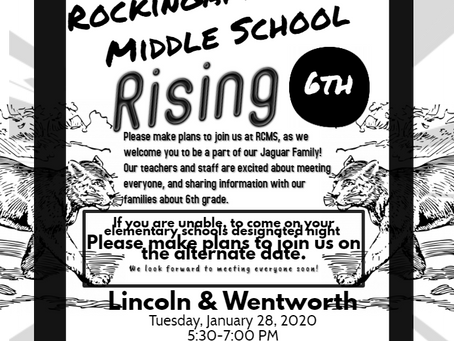 Middle School Rising: Jan. 28th