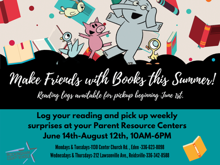 Summer Reading at the Parent Resource Center!