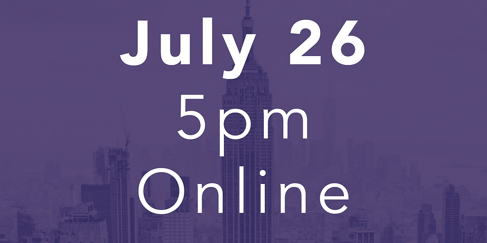 July 26 // 5pm Online Performance