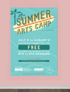 Summer Arts Camp Postcard