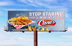Raising Cane's Chicken Fingers Out of Home Board
