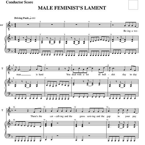 Male Feminist's Lament
