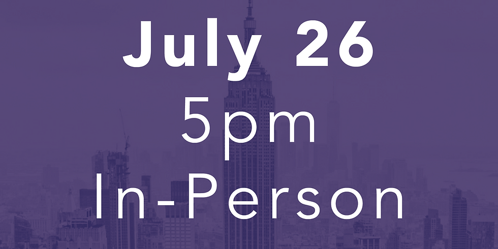 July 26 // 5pm  In-Person Performance