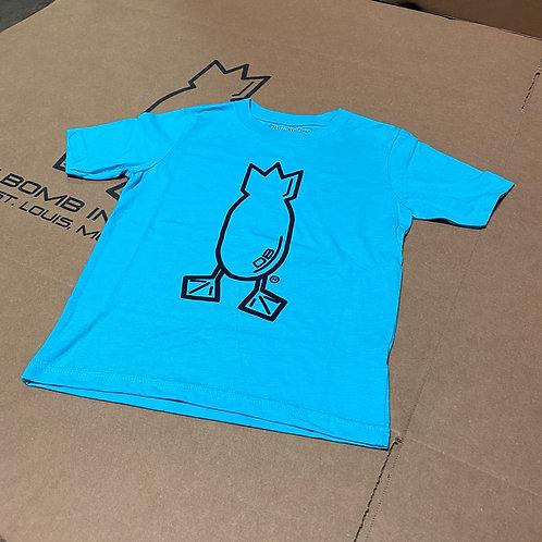 Youth Logo T-Shirt, Tahiti Blue