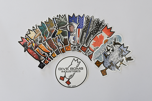 """Dive Bomb 5"""" Decal Pack (17 total)"""