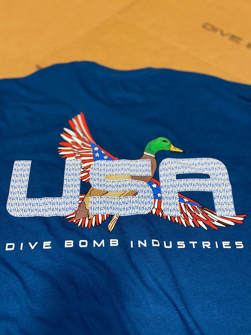 'Merica Mallard Pocket Tee, Cool Blue