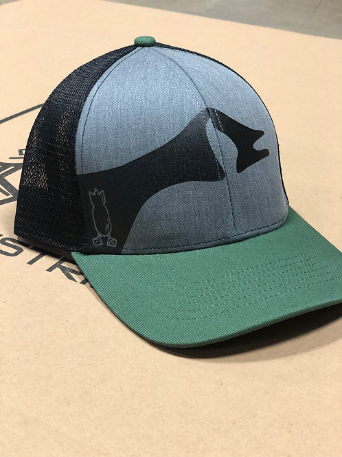 Goose front hat, green bill