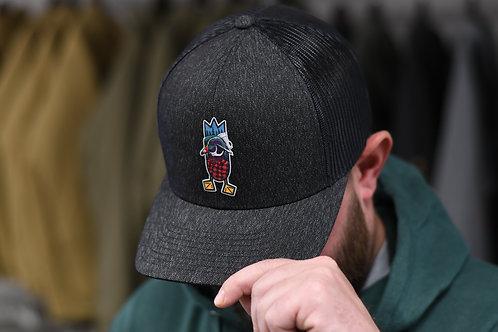 THE LUMBERJACK HAT, Black heather / black