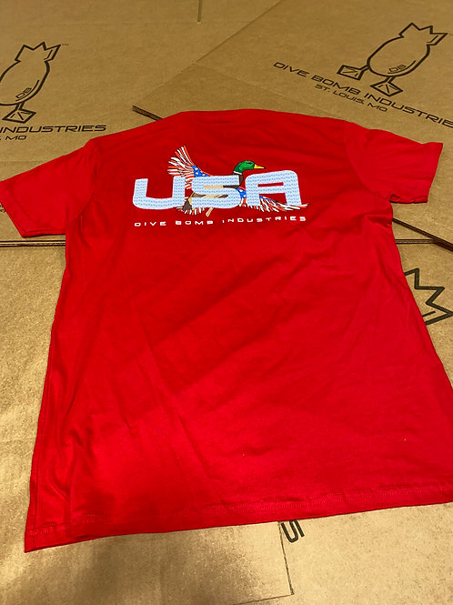 'Merica Mallard Pocket Tee, Red