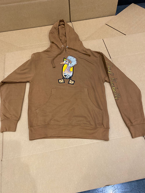 CHIEF BARBELLY Hoodie, Saddle Brown