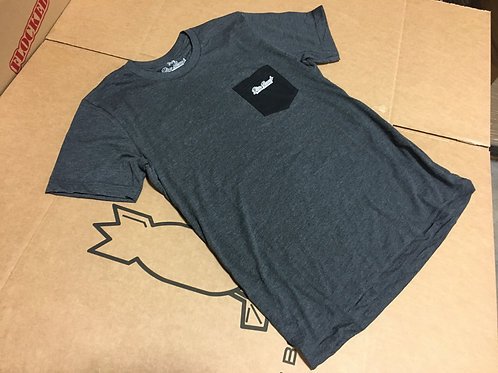 Charcoal, Black Pocket Comfort T-Shirt
