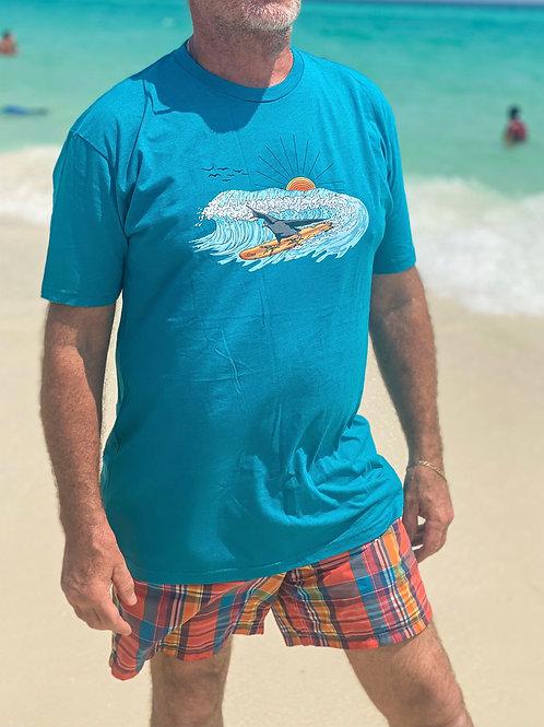 SURFER COOT Shirt, Teal
