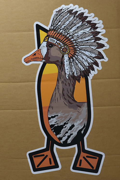 Trailer Decal, Chief Barbelly, 4 foot