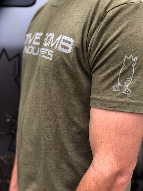 Ultra Soft Brand Tee, Olive with white wash print