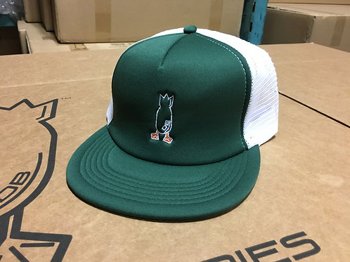 Hat, Green Foamie with Color Logo, snapback