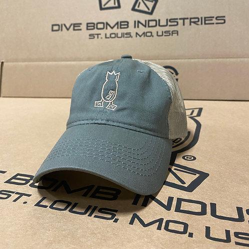 Olive & Tan Hat, Unstructured Velcro Back