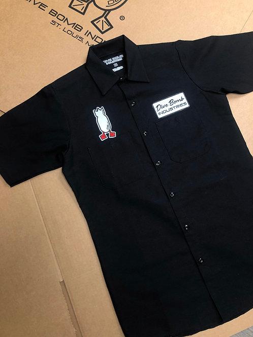 Black Work Shirt, Dive Bomb Patch