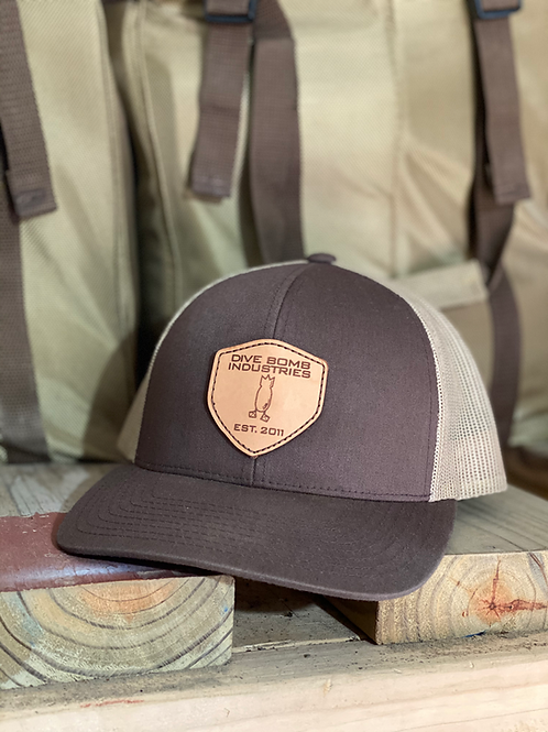 DB Leather Shield hat, Brown / Khaki