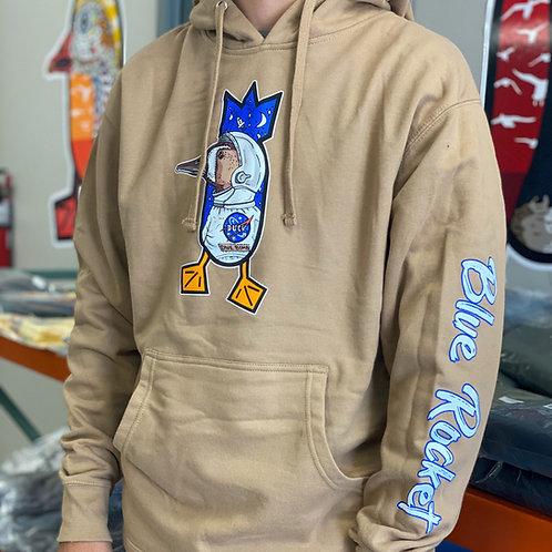BLUE ROCKET hoodie, Sandstone