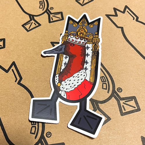 Decal, The King, 5 inches