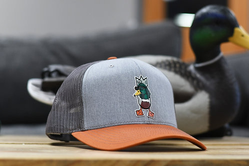 MONEY MALLARD Hat, Heather Grey / Charcoal / Burnt Orange
