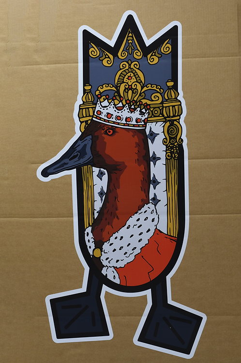 Trailer Decal, The King, 4 foot