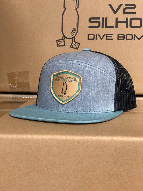 6-PANEL DB Shield Hat, Heather Grey / Smoke Blue