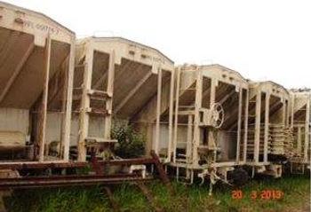 Vagão Ferroviário para Transporte de Grãos e Farelos Hopper Fechado