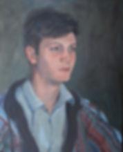portrait, portrait painter, oil, portrait of boy, portrait of young man, oil on canvas, portrait form life, artist, clare granger, contemporary art, contemporary british,