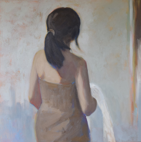 Girl with white cloth