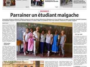 Article de l'Alsace paru ce jour !