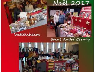 Vente d'artisanat aux marchés de Noël