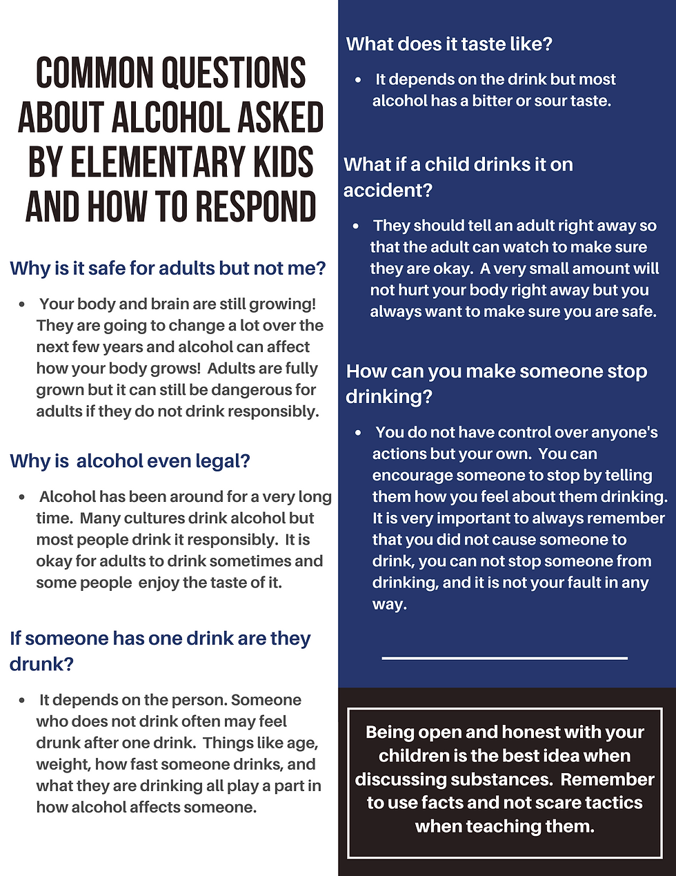 Alcohol Common Questions (Elem) Website.