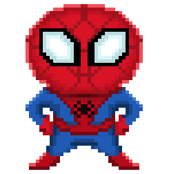 spiderman pixelart