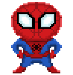 spiderman pixelart