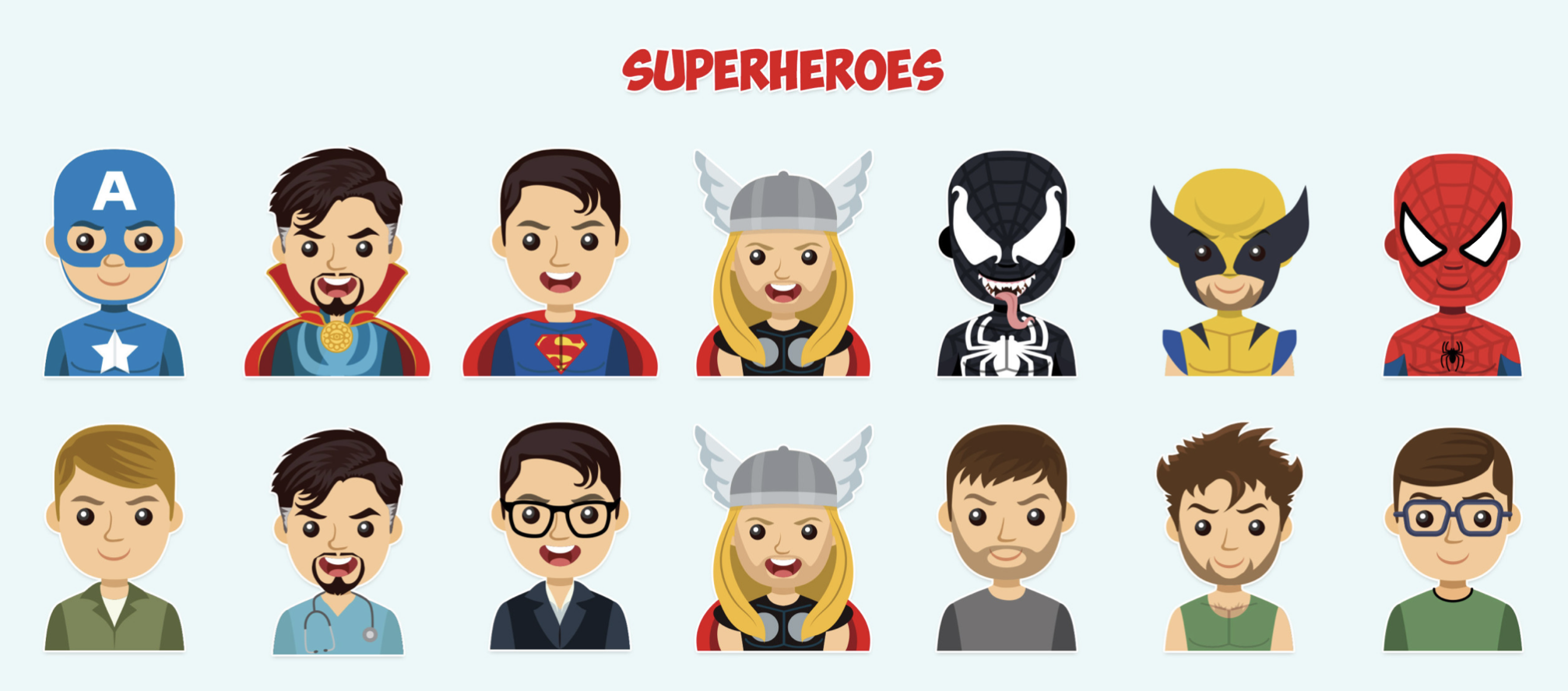 Telegram Superheroes Avatar