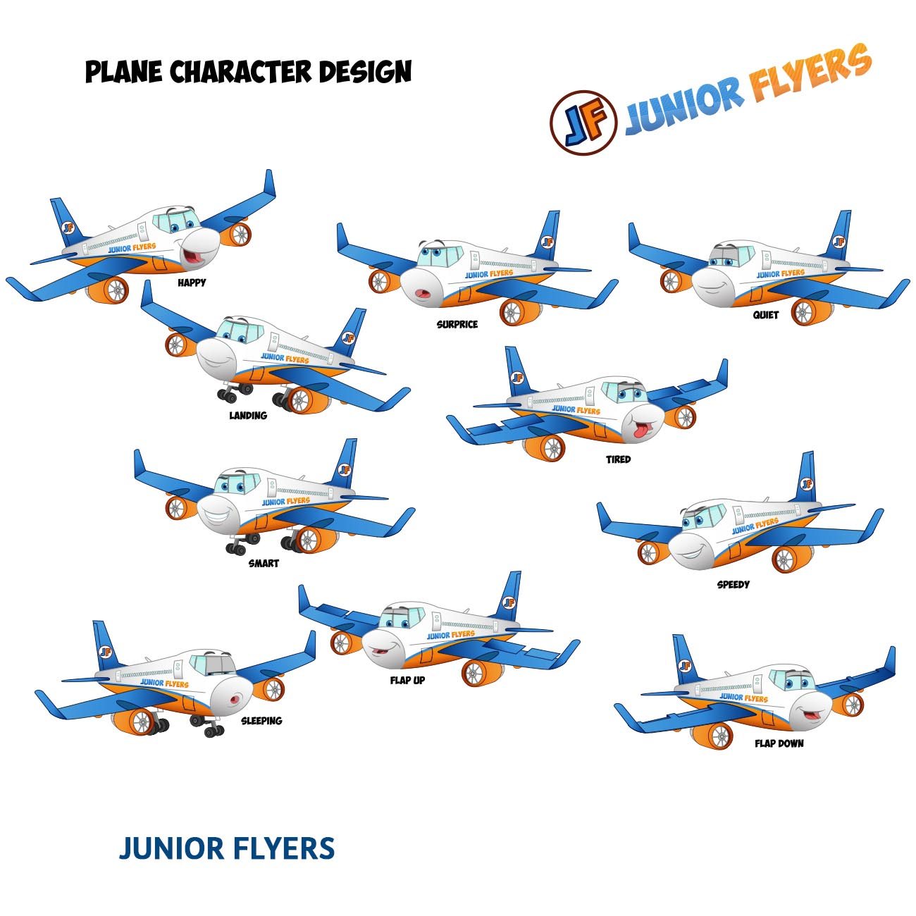 Plane Character Design