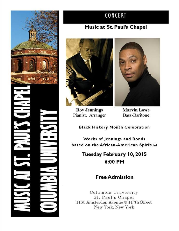 Final Flyer 2-10-15 Concert of Spiritual