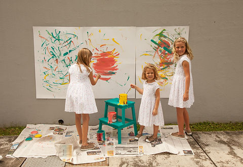 Girls painting