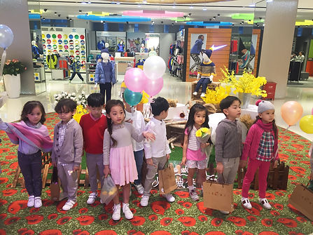 Kids wearing Chateau de Sable outfits in China