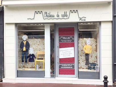 Window display at Saint-Germain-en-Laye store in France.