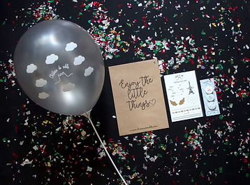 Balloon and goodies