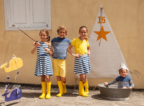 Kids wearing summer outfit