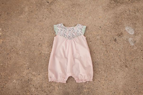 Pink romper for baby girl