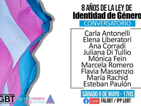 Diálogo virtual a 8 años de la ley de Identidad de Género