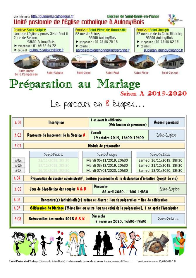 Préparation Mariage 2019-2020 Aulnay